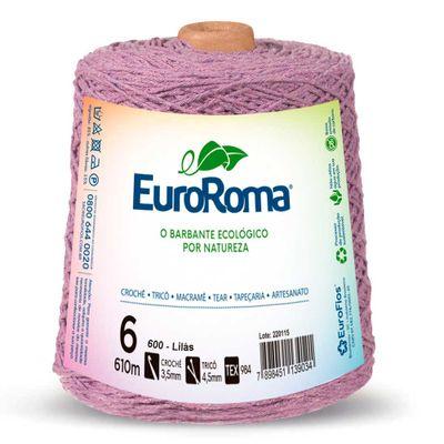 Barbante-Colorido-EuroRoma-nº-6-600-Lilas-Claro-Della-Aviamentos