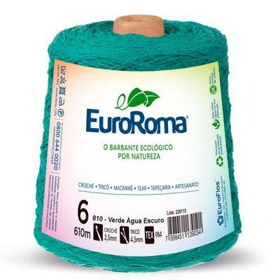 Barbante-Colorido-EuroRoma-nº-6-810-Verde-Agua-Escuro-Della-Aviamentos
