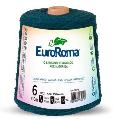 Barbante-Colorido-EuroRoma-nº-6-902-Azul-Petroleo-Della-Aviamentos