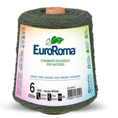 Barbante-Colorido-EuroRoma-nº-6-805-Verde-Militar-Della-Aviamentos