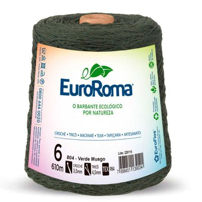 Barbante-Colorido-EuroRoma-nº-6-804-Verde-Musgo-Della-Aviamentos