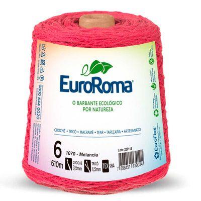 Barbante-Colorido-EuroRoma-nº-6-1070-Melancia-Della-Aviamentos