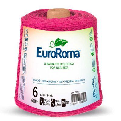Barbante-Colorido-EuroRoma-nº-6-550-Pink-Della-Aviamentos
