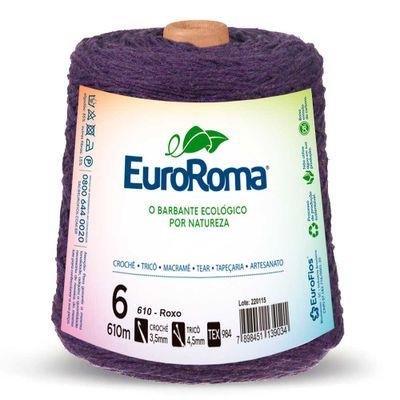 Barbante-Colorido-EuroRoma-nº-6-610-Roxo-Della-Aviamentos