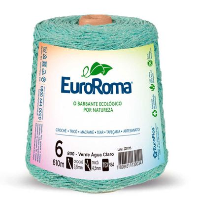 Barbante-Colorido-EuroRoma-nº-6-800-Verde-Agua-Della-Aviamentos