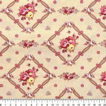 Tecido-Tricoline-Floral-Vivien-Leigh-Fundo-Cru