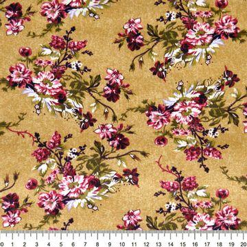 Tecido-Tricoline-Floral-Catherine-Fundo-Bege