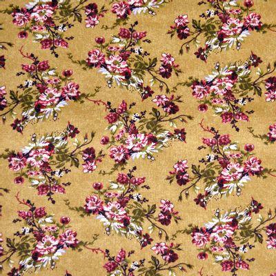 Tecido-Tricoline-Floral-Catherine-Fundo-Bege-9180