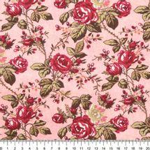 Tecido-Tricoline-Floral-Grace-Kelly-Fundo-Rosa