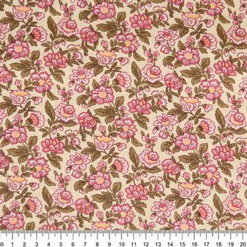 Tecido-Tricoline-Floral-Brigitte-Bardot-Fundo-Cru