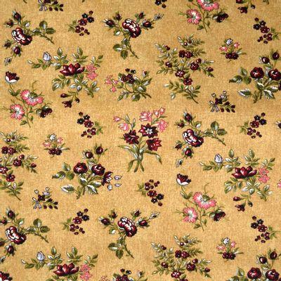 Tecido-Tricoline-Floral-Elizabeth-Taylor-Fundo-Bege-9179