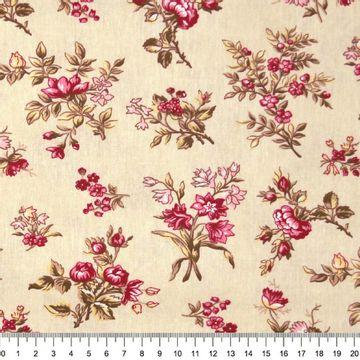 Tecido-Tricoline-Floral-Elizabeth-Taylor-Fundo-Cru