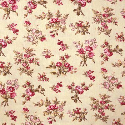 Tecido-Tricoline-Floral-Elizabeth-Taylor-Fundo-Cru-9178