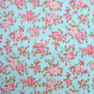 Tecido-Tricoline-Floral-Suelen-Flor-Fundo-Rosa-Azul-9200