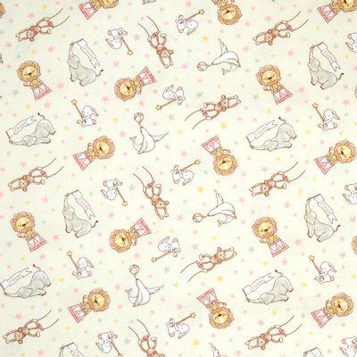 Tecido-Tricoline-Infantil-Animais-Acrobatas-Fundo-Creme-Com-Rosal-9204