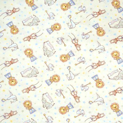 Tecido-Tricoline-Infantil-Animais-Acrobatas-Fundo-Creme-Com-Azul-9203