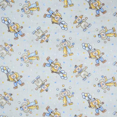 Tecido-Tricoline-Infantil-Palhacinhos-Fundo-Cinza-9202