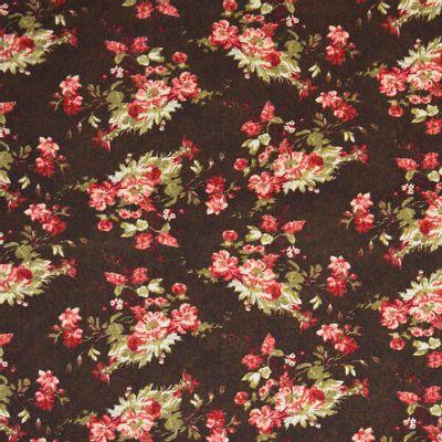 Tecido-Tricoline-Floral-Catherine-Fundo-Marrom-9182