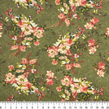 Tecido-Tricoline-Floral-Catherine-Fundo-Verde-Musgo