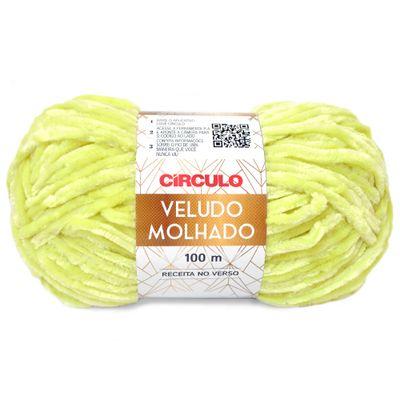 La-Veludo-Molhado-Circulo-100g-Cor-5372-Verde-Citrico-Della-Aviamentos