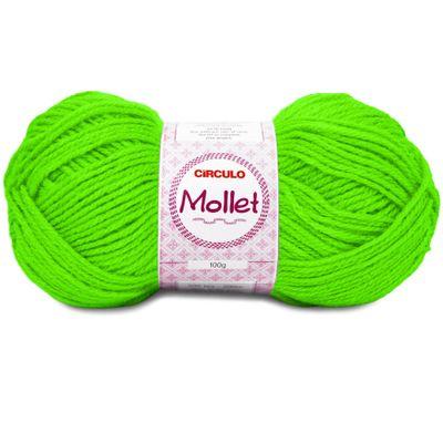 La-Mollet-Circulo-100g-Cor-781-Verde-Neon-Della-Aviamentos