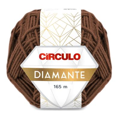 La-Diamante-Circulo-100g-Cor-854-Marrom-Chocolate-Della-Aviamentos