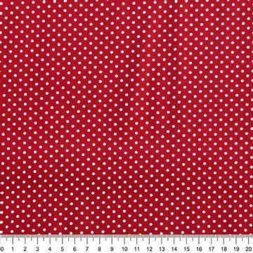 Tecido-Tricoline-Poa-Branco-Fundo-Vermelho-Della-Aviamentos