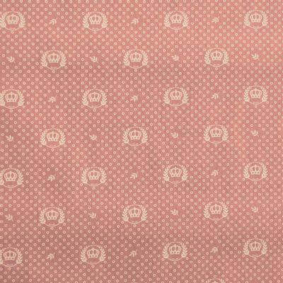 Tecido-Tricoline-Coroa-Fundo-Rosa-Envelhecido-Della-Aviamentos-9340