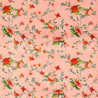 Tecido-Tricoline-Floral-com-Ramos-Fundo-Salmao-Riscado-Della-Aviamentos-9337