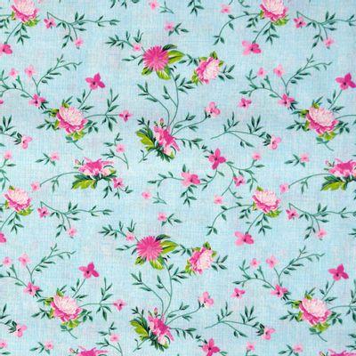 Tecido-Tricoline-Floral-Rosas-com-Ramos-Fundo-Azul-Riscado-Della-Aviamentos-9336