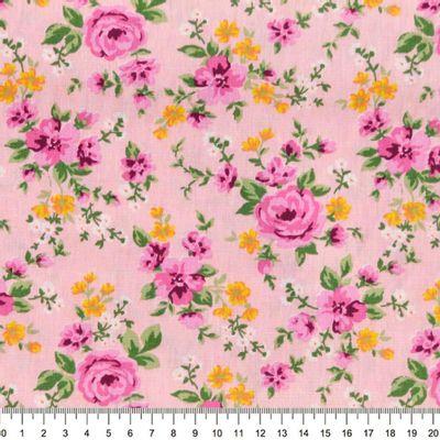 Tecido-Tricoline-Floral-Rosas-Fundo-Rosa-Della-Aviamentos