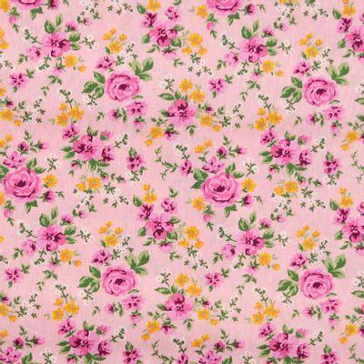 Tecido-Tricoline-Floral-Rosas-Fundo-Rosa-Della-Aviamentos-9338