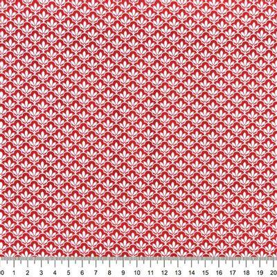 Tecido-Tricoline-Textura-Folha-Branca-Fundo-Vermelho-Della-Aviamentos