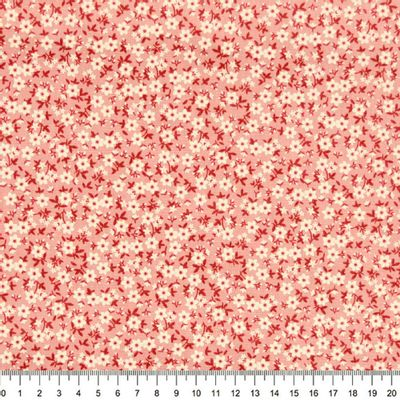 Tecido-Tricoline-Floral-Mini-Caule-Vermelho-Fundo-Salmao-Della-Aviamentos