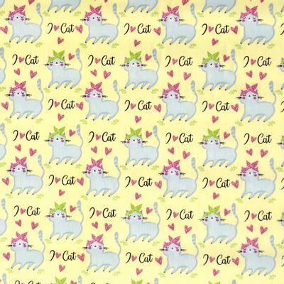 Tecido-Tricoline-I-Love-Cat-Fundo-Amarelo-Della-Aviamentos-9315