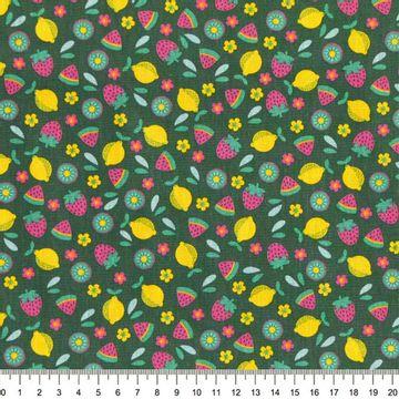 Tecido-Tricoline-Frutas-Fundo-Verde-Della-Aviamentos