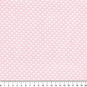 Tecido-Tricoline-Textura-Folha-Branca-Fundo-Rosa-Della-Aviamentos