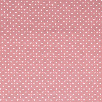 Tecido-Tricoline-Coroa-Pequena-Fundo-Rosa-Della-Aviamentos-9364