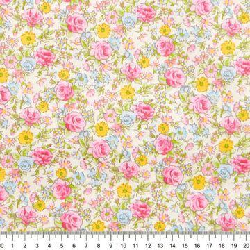 Tecido-Tricoline-Rosas-Pequenas-Fundo-Rosa-Della-Aviamentos