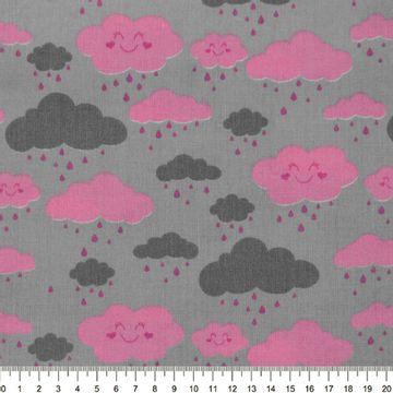 Tecido-Tricoline-Estampado-Nuvens-Rosas-Fundo-Cinza-Della-Aviamentos-9081