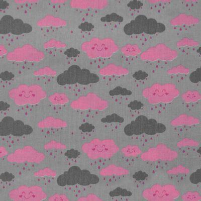 Tecido-Tricoline-Estampado-Nuvens-Rosas-Fundo-Cinza-Della-Aviamentos