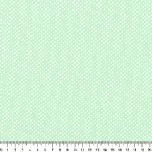 Tecido-Tricoline-Estampado-Poa-Pequeno-Branco-Fundo-Verde-Della-Aviamentos-9053