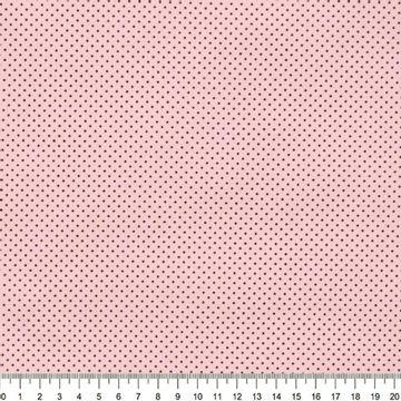 Tecido-Tricoline-Estampado-Poa-Pequeno-Marrom-Fundo-Rosa-Della-Aviamentos-9054