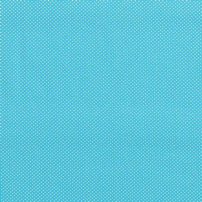 Tecido-Tricoline-Estampado-Poa-Mini-Branco-Fundo-Azul-Turquesa-Della-Aviamentos.