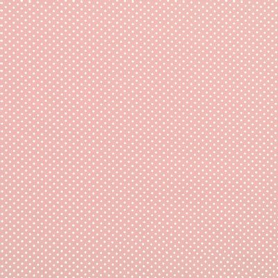 Tecido-Tricoline-Estampado-Poa-Mini-Branco-Fundo-Rose-Della-Aviamentos.