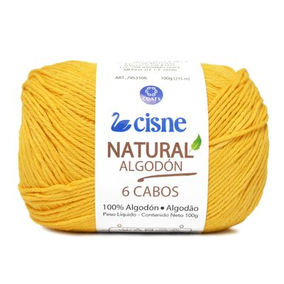 Linha-Natural-Algodon-Cisne-com-6-Cabos-100g-Cor-298-Amarelo-Baby-Della-Aviamentos
