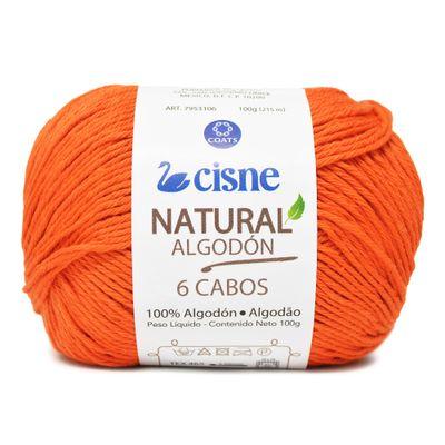 Linha-Natural-Algodon-Cisne-com-6-Cabos-100g-Cor-8-Laranja-Della-Aviamentos