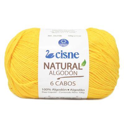 Linha-Natural-Algodon-Cisne-com-6-Cabos-100g-Cor-270-Amarelo-Vibrante-Della-Aviamentos