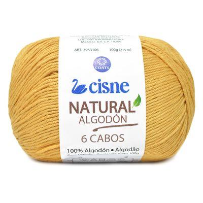 Linha-Natural-Algodon-Cisne-com-6-Cabos-100g-Cor-891-Amarelo-Mel-Della-Aviamentos