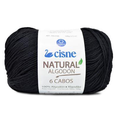 Linha-Natural-Algodon-Cisne-com-6-Cabos-100g-Cor-0000N-Preto-Della-Aviamentos